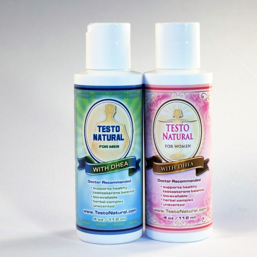 Testo Natural for men and women with DHEA and natural ingredients - NEW IMAGE COMING SOON
